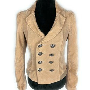 Free People Military Style Womens Tan Jacket Coat